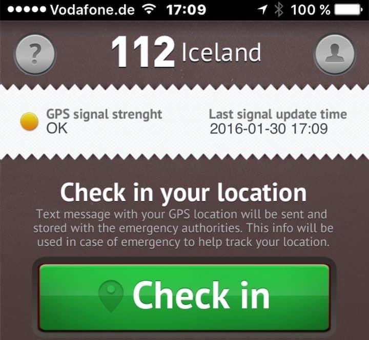 App 112 Iceland
