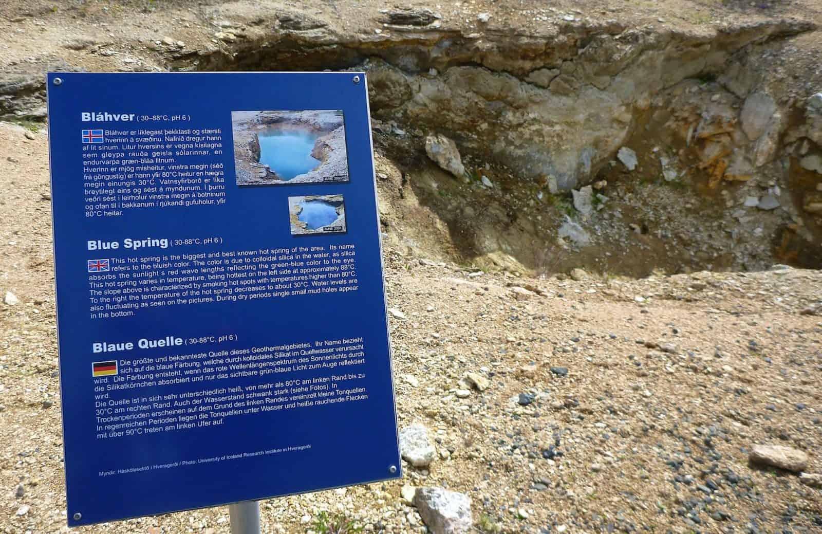 Bláhver - trocken gelaufen beim Erdbeben von 2011