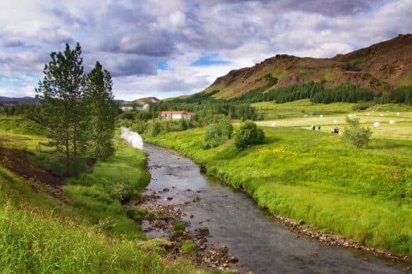 Fluss Varmá bei Hveragerði