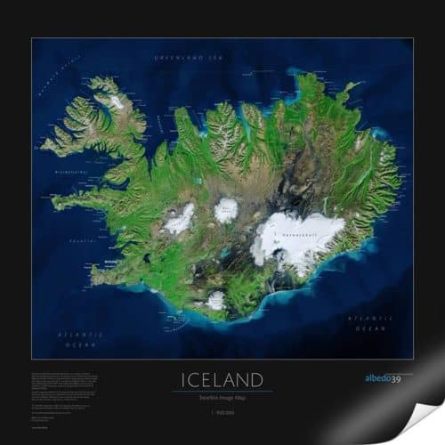 Satellitenbildkarte Island