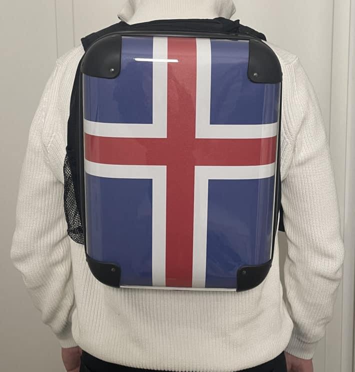 Rucksack (Hardcase) mit Island-Motiv